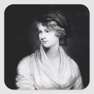 Portrait of Mary Wollstonecraft Godwin Square Sticker