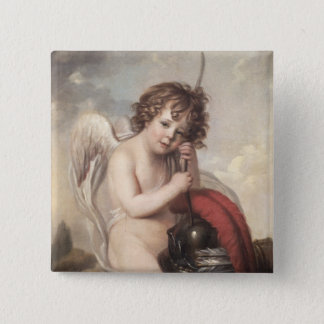 Portrait of Master Oswald Fawcett as Cupid (oil on 15 Cm Square Badge
