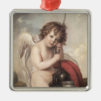 Portrait of Master Oswald Fawcett as Cupid (oil on Christmas Ornament