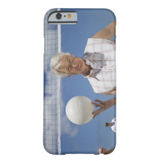 Portrait of mature man holding volley ball on barely there iPhone 6 case