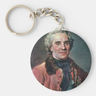 Portrait Of Maurice Comte De Saxe, Marshal Of Fran Keychains