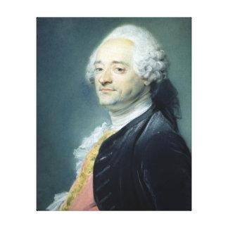 Portrait of Maurice Quentin de la Tour , 1750 Canvas Print