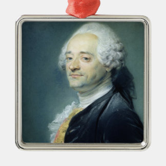 Portrait of Maurice Quentin de la Tour , 1750 Christmas Ornament