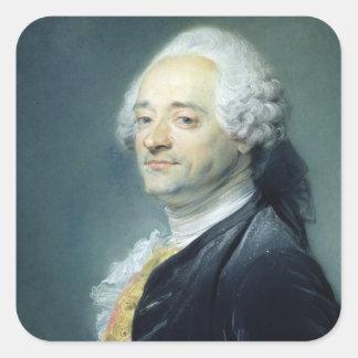 Portrait of Maurice Quentin de la Tour , 1750 Square Sticker