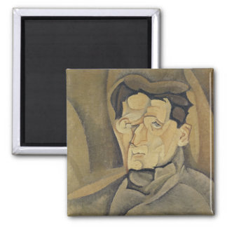 Portrait of Maurice Raynal  1911 Square Magnet