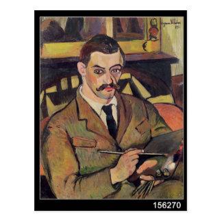 Portrait of Maurice Utrillo  1921 Postcard