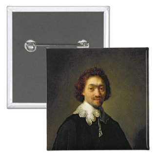 Portrait of Maurits Huygens, 1632 15 Cm Square Badge
