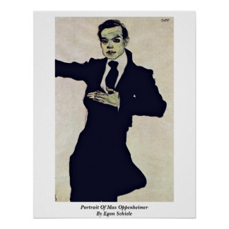 Portrait Of Max Oppenheimer By Egon Schiele Poster