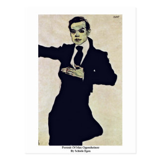 Portrait Of Max Oppenheimer By Schiele Egon Postcards