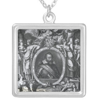 Portrait of Maximilian I of Bavaria Silver Plated Necklace
