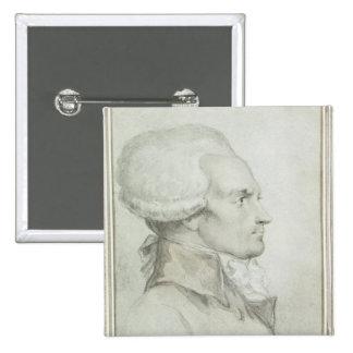 Portrait of Maximilien de Robespierre 15 Cm Square Badge