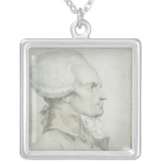 Portrait of Maximilien de Robespierre Silver Plated Necklace