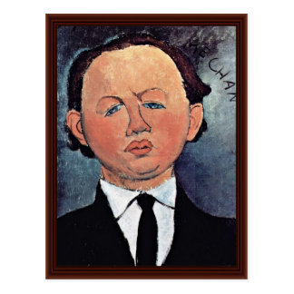 Portrait Of Mechanical By Modigliani Amedeo Postcard