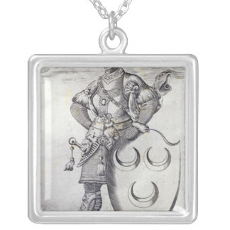 Portrait of Mehmed II Silver Plated Necklace