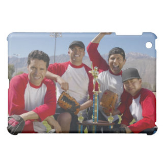 Portrait of Men in a Winning Baseball Team with iPad Mini Cases
