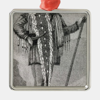 Portrait of Meriwether Lewis  engraved Silver-Colored Square Decoration