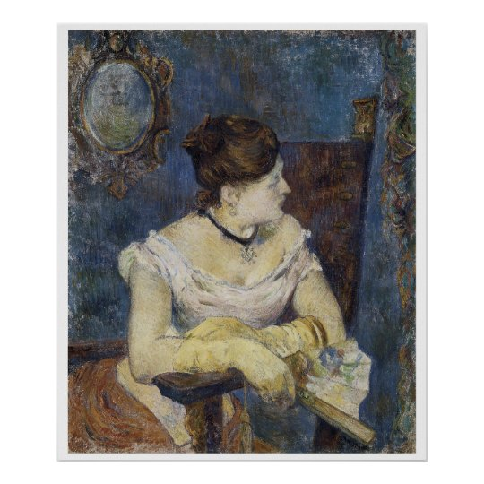 Portrait of Mette Gauguin, the Artist's Wife Poster