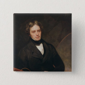 Portrait of Michael Faraday  1841-42 15 Cm Square Badge
