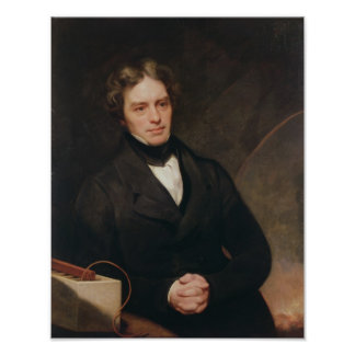 Portrait of Michael Faraday  1841-42 Poster