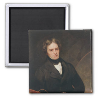Portrait of Michael Faraday  1841-42 Square Magnet