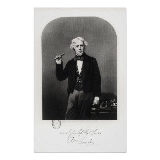 Portrait of Michael Faraday Poster