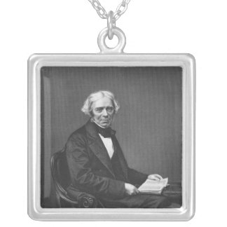 Portrait of Michael Faraday Silver Plated Necklace