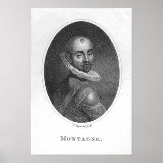 Portrait of Michel de Montaigne Poster