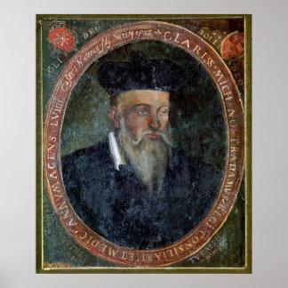 Portrait of Michel de Nostradame Print