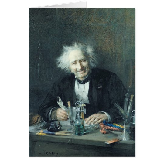 Portrait of Michel-Eugene Chevreul  1888 Card
