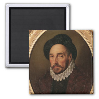 Portrait of Michel Eyquem de Montaigne Square Magnet