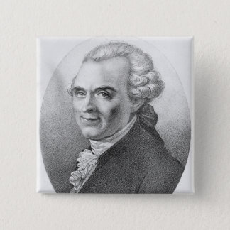 Portrait of Michel-Jean Sedaine 15 Cm Square Badge