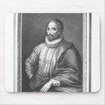 Portrait of Miguel de Cervantes Saavedra Mousepads
