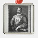 Portrait of Miguel de Cervantes Saavedra Ornament