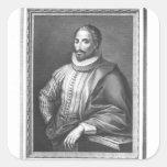 Portrait of Miguel de Cervantes Saavedra Square Sticker