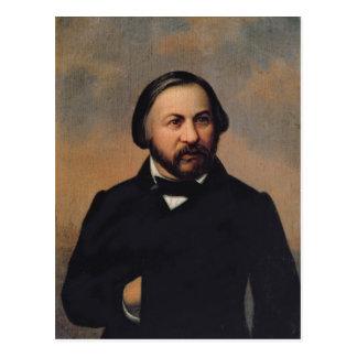 Portrait of Mikhail Ivanovich Glinka , 1850s Postcard
