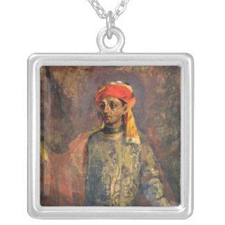 Portrait of Mikhail Kuzmin, 1911-12 Silver Plated Necklace
