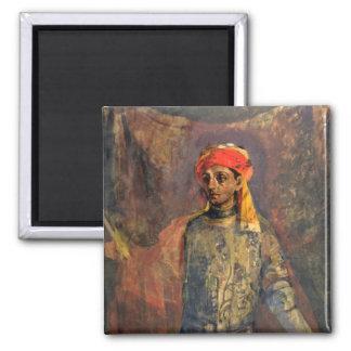 Portrait of Mikhail Kuzmin, 1911-12 Square Magnet