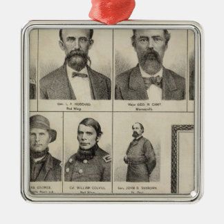 Portrait of Military Men, Minnesota Christmas Ornament