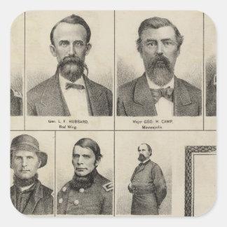 Portrait of Military Men, Minnesota Square Sticker