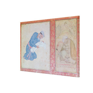 Portrait of Min Musavir giving a petition Canvas Print