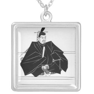 Portrait of Minamoto Yoritomo Silver Plated Necklace