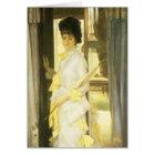 Portrait of Miss Lloyd by Tissot, Vintage Fine Art Card