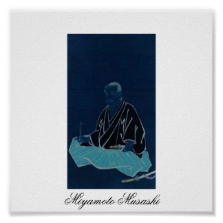 Portrait of Miyamoto Musashi. Edo Period. Poster
