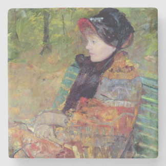 Portrait of Mlle C. Lydia Cassatt, 1880 Stone Coaster