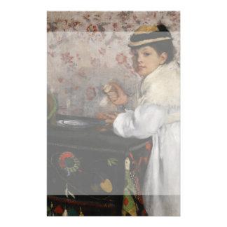 Portrait of Mlle Hortense Valpincon by Edgar Degas Custom Flyer
