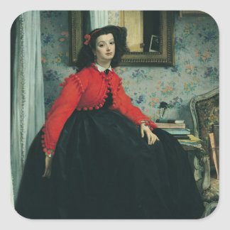 Portrait of Mlle. L.L.  1864 Square Sticker