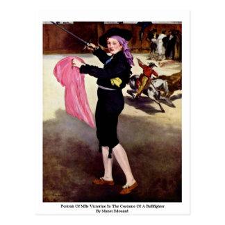 Portrait Of Mlle Victorine Postcard