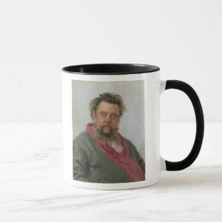 Portrait of Modest Petrovich Moussorgsky  1881 Mug