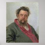 Portrait of Modest Petrovich Moussorgsky  1881 Poster