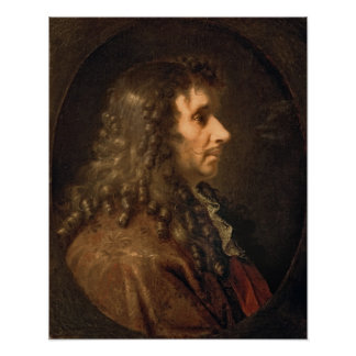 Portrait of Moliere  1660 Poster